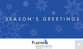 2018 Flaster Greenberg - custom corporate holiday ecard thumbnail