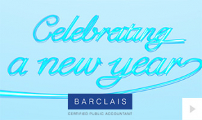 2018 Barclais - neon new year corporate holiday ecard thumbnail