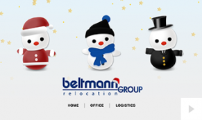 2018 Beltmann Relocation Group - Jolly snowman corporate holiday ecard thumbnail