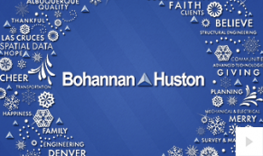 2018 Bohannan Huston - wreath words corporate holiday ecard thumbnail
