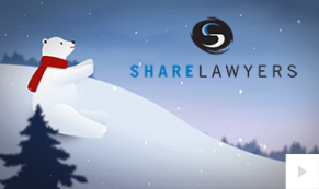 2018 Share Lawyers - polar bear greetings corporate holiday ecard thumbnail
