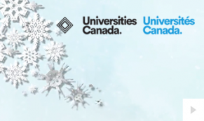 2018 Universities Canada - Flourishing snowflakes corporate holiday ecard thumbnail