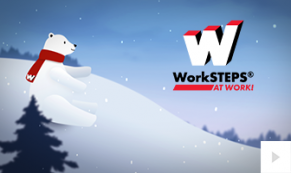 2018 Work Steps - polar bear greetings corporate holiday ecard thumbnail
