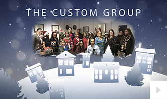 2018 Custom Group - Holiday reindeer corporate holiday ecard thumbnail