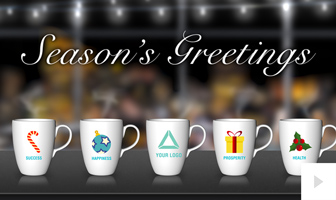 Office Mug corporate holiday ecard thumbnail