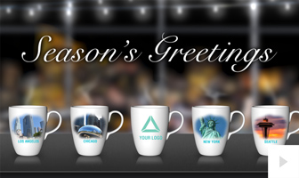 Office Mug City Version corporate holiday ecard thumbnail