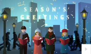 city carolers corporate holiday ecard thumbnail