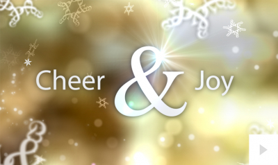 Ampersand Affirmation Gold Version corporate holiday ecard thumbnail
