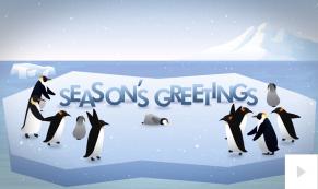 penguin presence corporate holiday ecard thumbnail