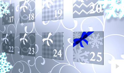 Advent Silver version corporate holiday ecard thumbnail