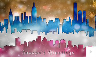 sparkling skylines corporate holiday ecard thumbnail