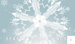 Paper Snowflakes multi-cities corporate holiday ecard thumbnail