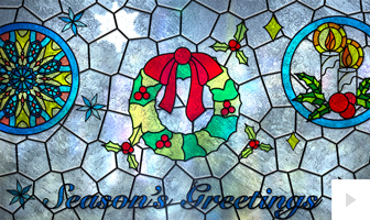 Stained Glass corporate holiday ecard thumbnail