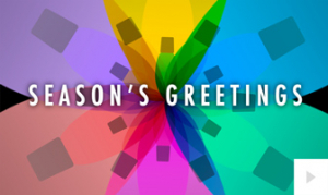 Colors of the Season Black corporate holiday ecard thumbnail