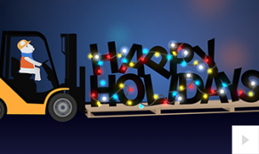 Forklift Fun corporate holiday ecard thumbnail