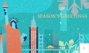 city celebration corporate holiday ecard thumbnail