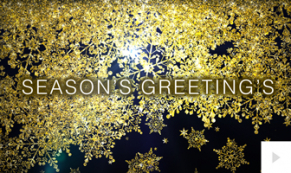 Flakes of Gold corporate holiday ecard thumbnail