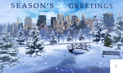 Magical Pond corporate holiday ecard thumbnail