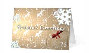 2019 Advent Vivid Greetings Print Ecards