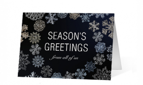 2019 Snowflake Jewels Vivid Greetings Print cards