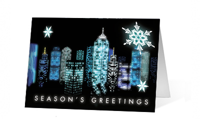 2019 City Windows Vivid Greetings Print cards