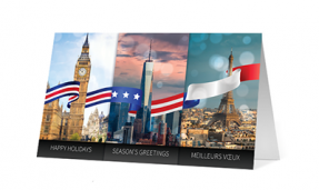 2019 festive flags corporate holiday greeting card thumbnail