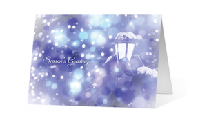 2019 serene wishes corporate holiday greeting card thumbnail