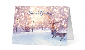 2019 serenity corporate holiday greeting card thumbnail