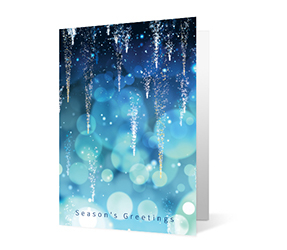 2019 shimmering icicles corporate holiday greeting card thumbnail