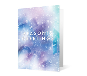 2019 word wishes corporate holiday greeting card thumbnail