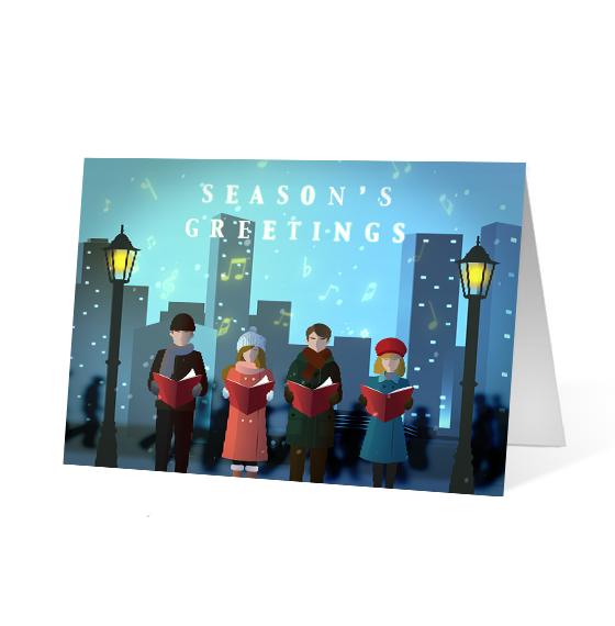 City Carolers - Print