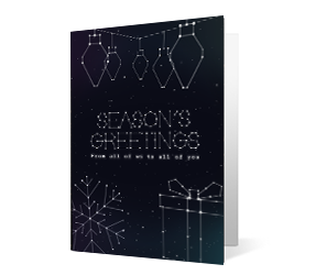2019 constellation corporate holiday greeting card thumbnail