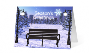 2019 lofty spirit corporate holiday greeting card thumbnail