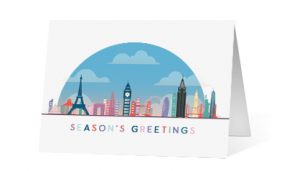 2019 under the dome corporate holiday greeting card thumbnail