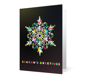 2019 colorful collection corporate holiday greeting card thumbnail