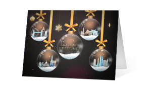 2019 glass ornaments corporate holiday greeting card thumbnail