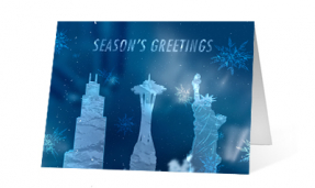 2019 Landmark Illumination corporate holiday greeting card thumbnail
