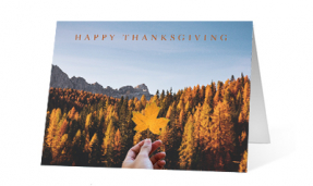 2019 Leaf Journey corporate holiday greeting card thumbnail