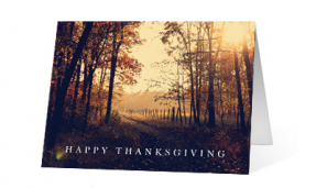 2019 landscape fall corporate holiday greeting card thumbnail