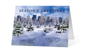 2019 Magical Pond corporate holiday greeting card thumbnail