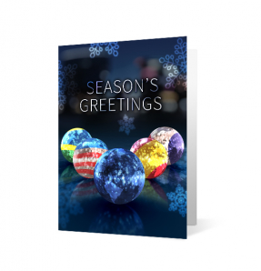 2019 language orbs corporate holiday greeting card
