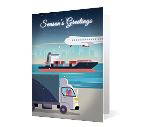 2019 transportation corporate holiday greeting card thumbnail