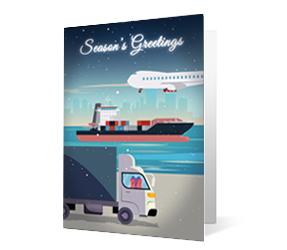2019 transportation corporate holiday greeting card thumbnail