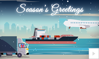 Transportation Christmas Holiday business ecard