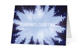 2019 forest wreath corporate holiday print card thumbnail