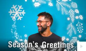 Festive Faces corporate holiday ecard thumbnail Version1