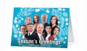 2019 Festive Faces Vivid Greetings Print cards