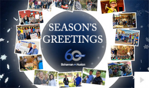 2019 Bohannan Huston - Wreath Snapshots corporate holiday ecard thumbnail
