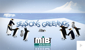 2019 MIB Penguin Presence corporate holiday ecard thumbnail