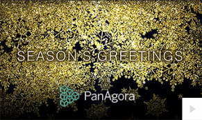2019 Panagora - Flakes Of Gold corporate holiday ecard thumbnail